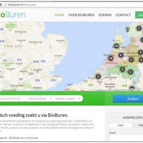 BioBuren.nl is een zoekmachine voor biologisch voedsel
