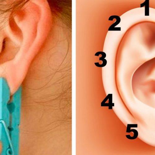 Ze gedurende 5 seconden een wasknijper op je oor. Het onverwachte effect zal je verrassen