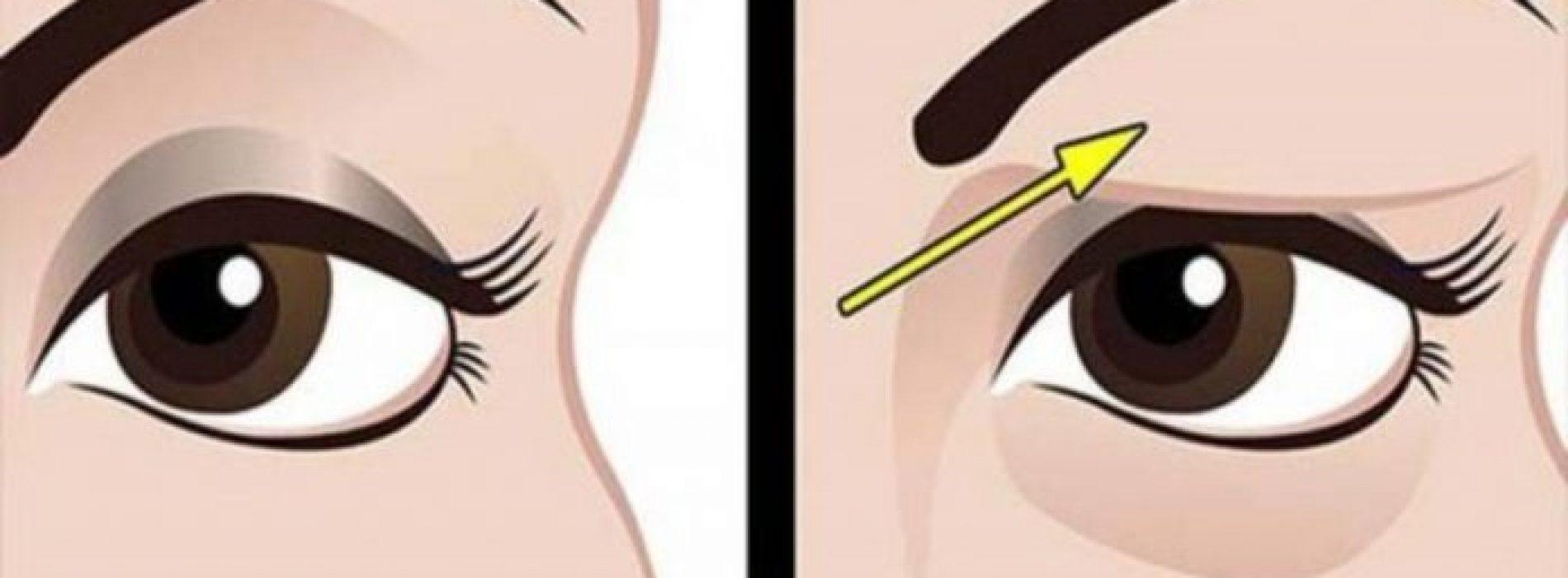 Kom met deze tip van je hangende oogleden af. Op natuurlijke wijze!