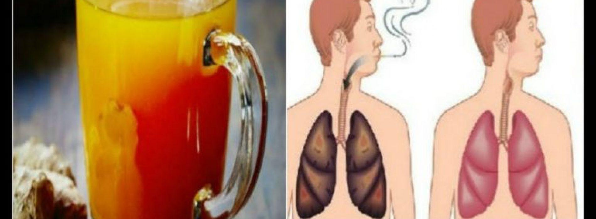 Deze natuurlijke drank zal uw longen zeer snel reinigen! Elke roker en ex-roker zou het moeten proberen!