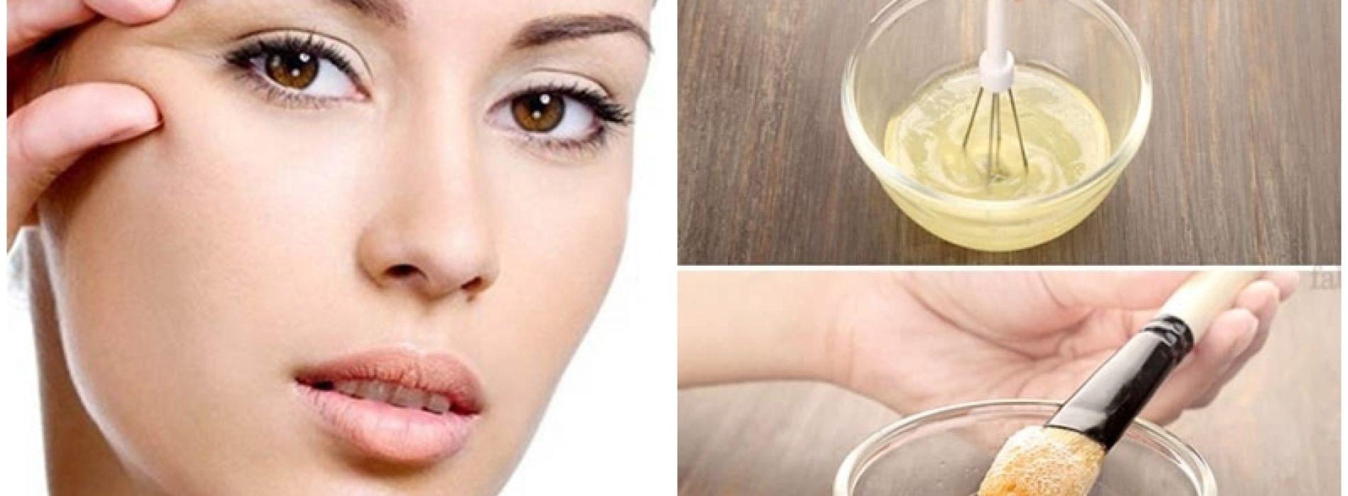 Hoe rimpels te elimineren en de huid te verstevigen met ei