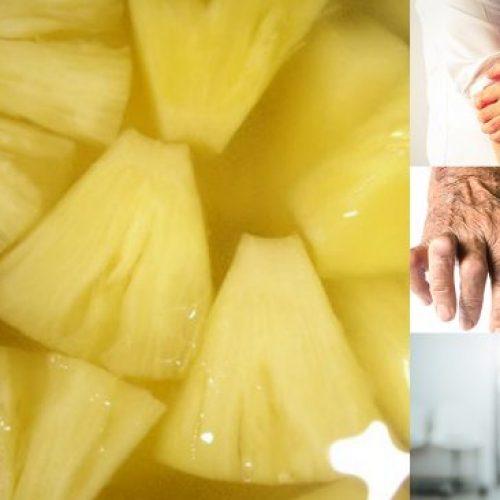 Dit ananaswater kan gewrichtspijn, ontstekingen verlichten en zal u helpen gewicht te verliezen