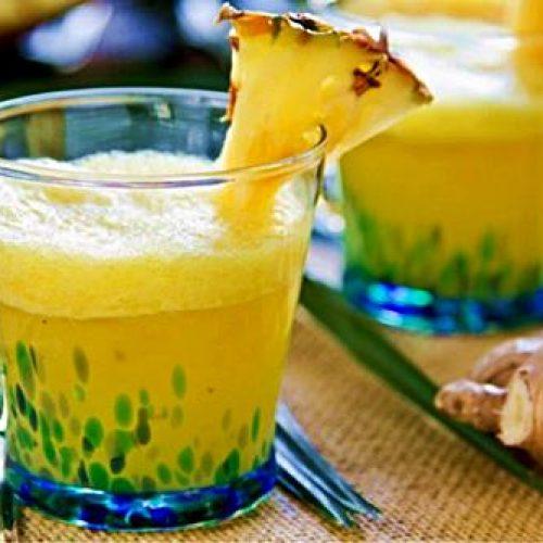 Hoe maak je ananas & gember smoothies om te helpen met pijn en ontsteking
