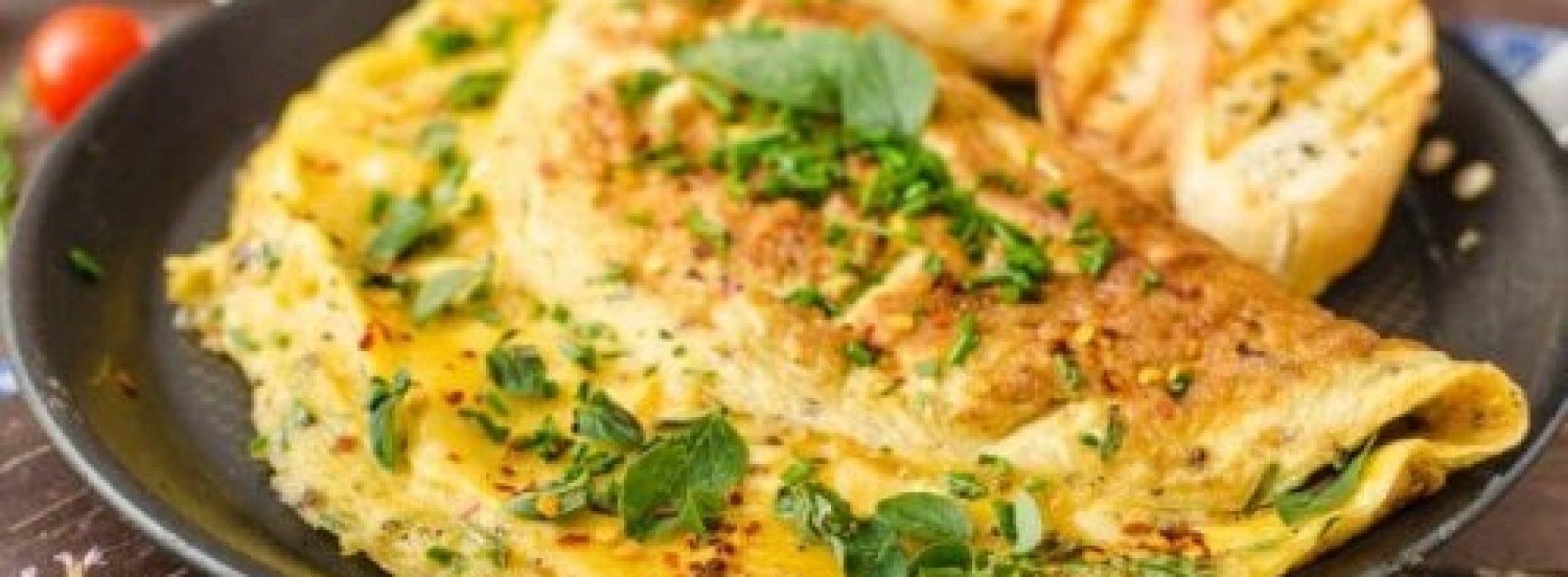 Gezondheid begint met een goed ontbijt -Spaanse omelet met spinazie, Chia zaden en Spirulina