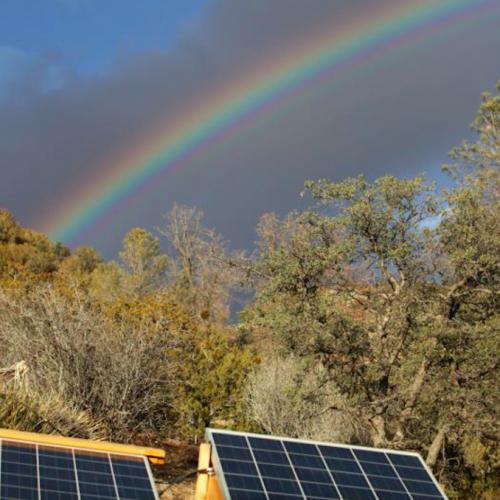 Nieuwe zonnepanelen halen energie uit regenwater
