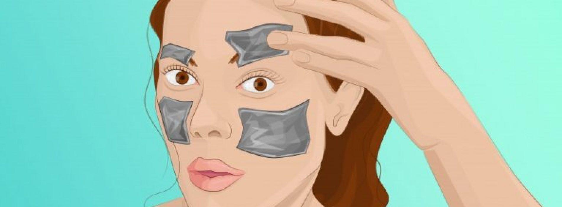 Ze legde een stukje aluminiumfolie op haar gezicht en kreeg na een uur DIT resultaat!