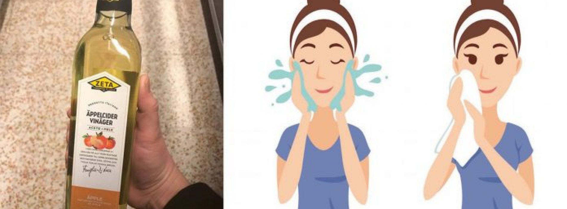 Dit zijn DE 5 redenen waarom je voortaan je gezicht moet wassen met appelazijn!