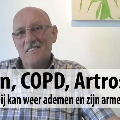 Simon, COPD, Artrose, hij kan weer ademen en zijn armen bewegen.