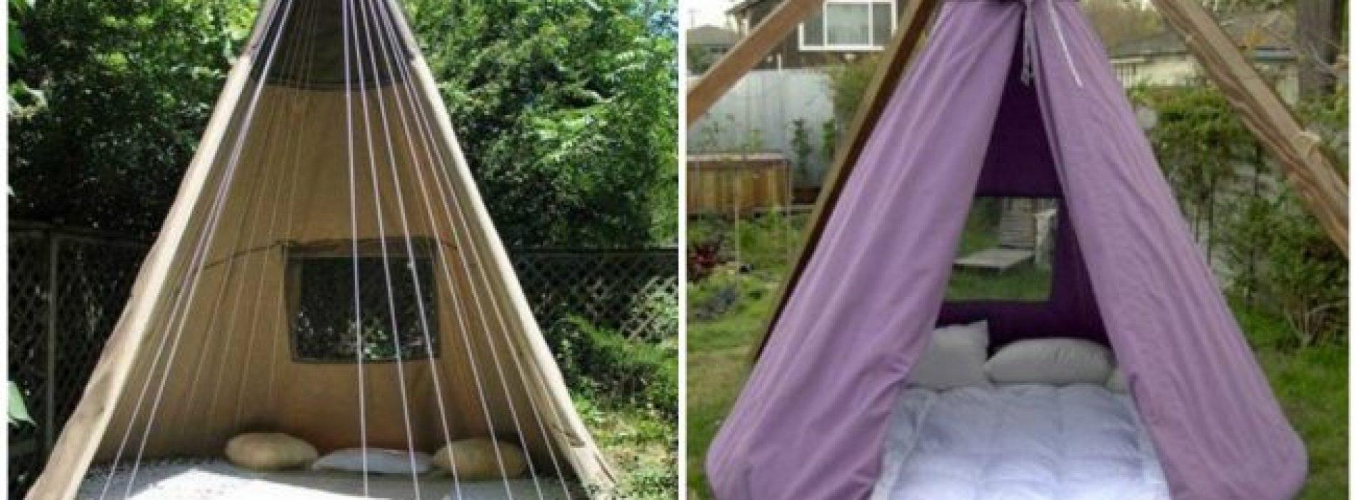 Gaaf! Een geweldige manier om je oude trampoline te gebruiken!
