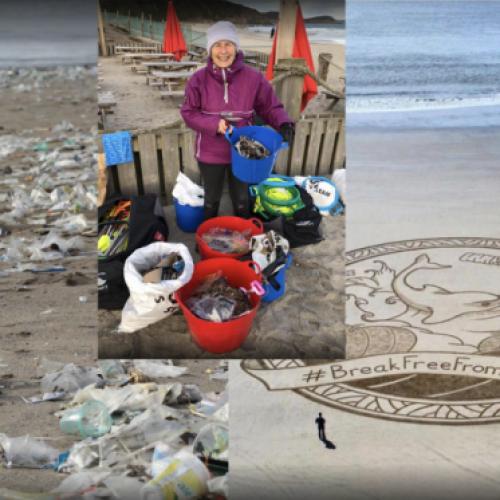 Een 70-jarige oma maakte al 52 stranden schoon in 2018 om onze planeet te helpen