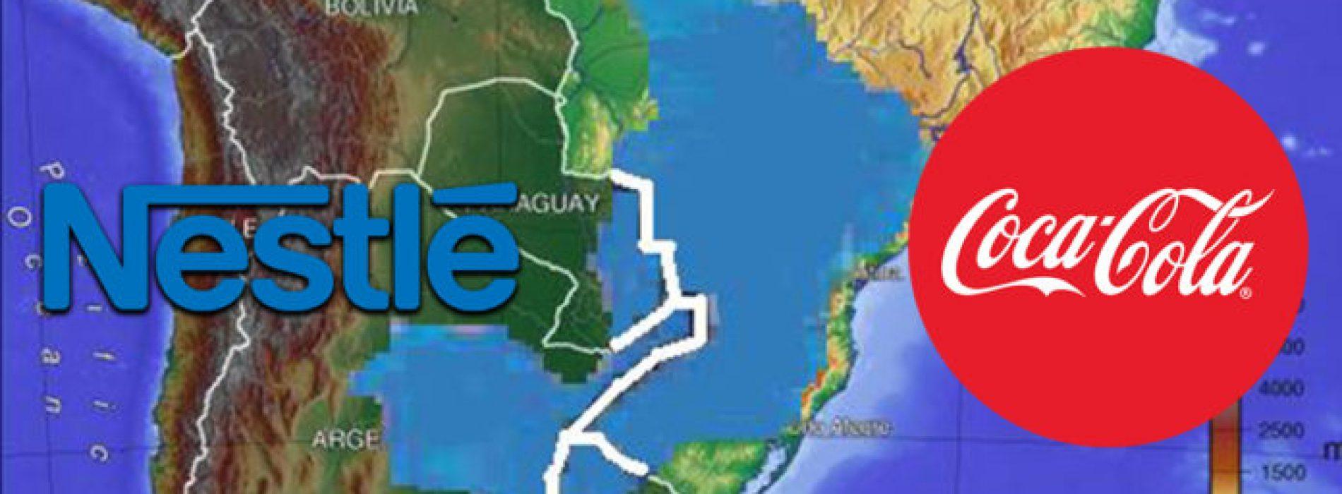 Coca-Cola en Nestlé privatiseren de grootste waterreserve in Zuid-Amerika
