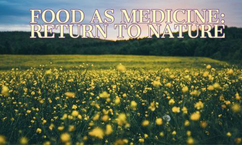 Voedsel als medicijn: Terug naar de natuur