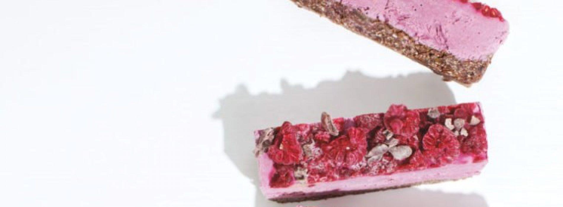 Gezonde desserts: Frambozen cacao plakken